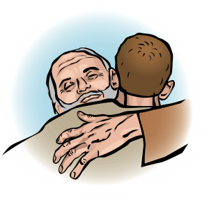 Father Welcomes Prodigal Son Clipart