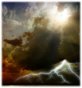 See how He thunders from His Tabernacle